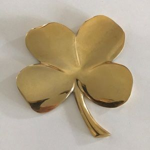 Gold Four Leaf Clover Paperweight